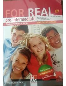 For real pre-intermediate student`s book - Учебник по английски език за 8 клас.