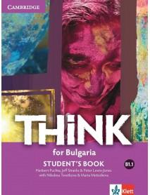 Think for Bulgaria -ниво B1.1 student`s book. Учебник по английски език за 8 клас