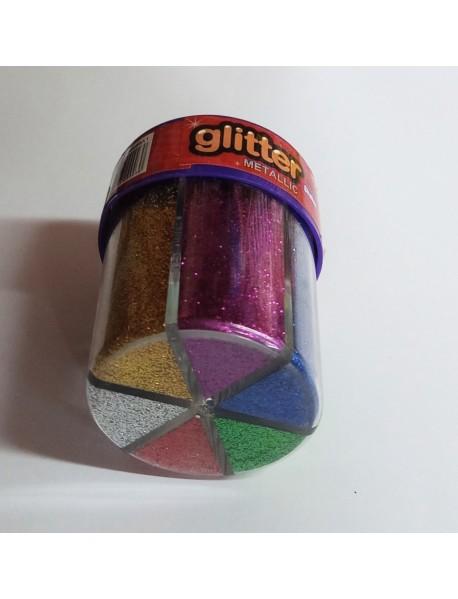 Брокат сух 6 цвята - тип солница 80 гр.