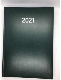 Бележник с дати 14х20 , 168 листа тъмно зелен