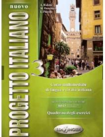 Nuovo Progetto Italiano 3 . Quaderno degli esercizi. Livelllo intermedio - avanzato B2-C1 . Учебна тетрадка по италиански език ниво B2-C1