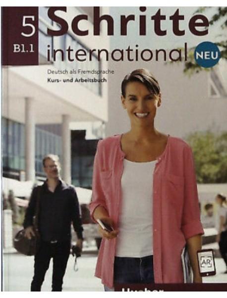 Schritte international 5 neu B1.1. Deutsch als Fremdsprache Kurs-und Arbeitsbuch. Учебник и учебна тетрадка по немски език за чуждо говорящи ниво B1.1