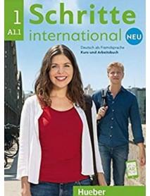 Schritte international 1 neu A1.1 Deutsch als Fremdsprache Kurs- und Arbeitsbuch. Учебник и работна тетрадка по немски език за чуждо говорящи ниво А1.1
